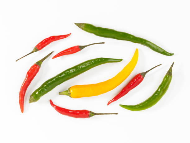 assorted chilis stock photo