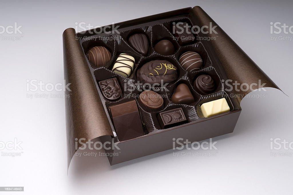 Assorted Chocolate Box royalty-free stock photo