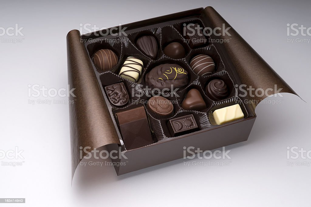 Assorted Chocolate Box stock photo