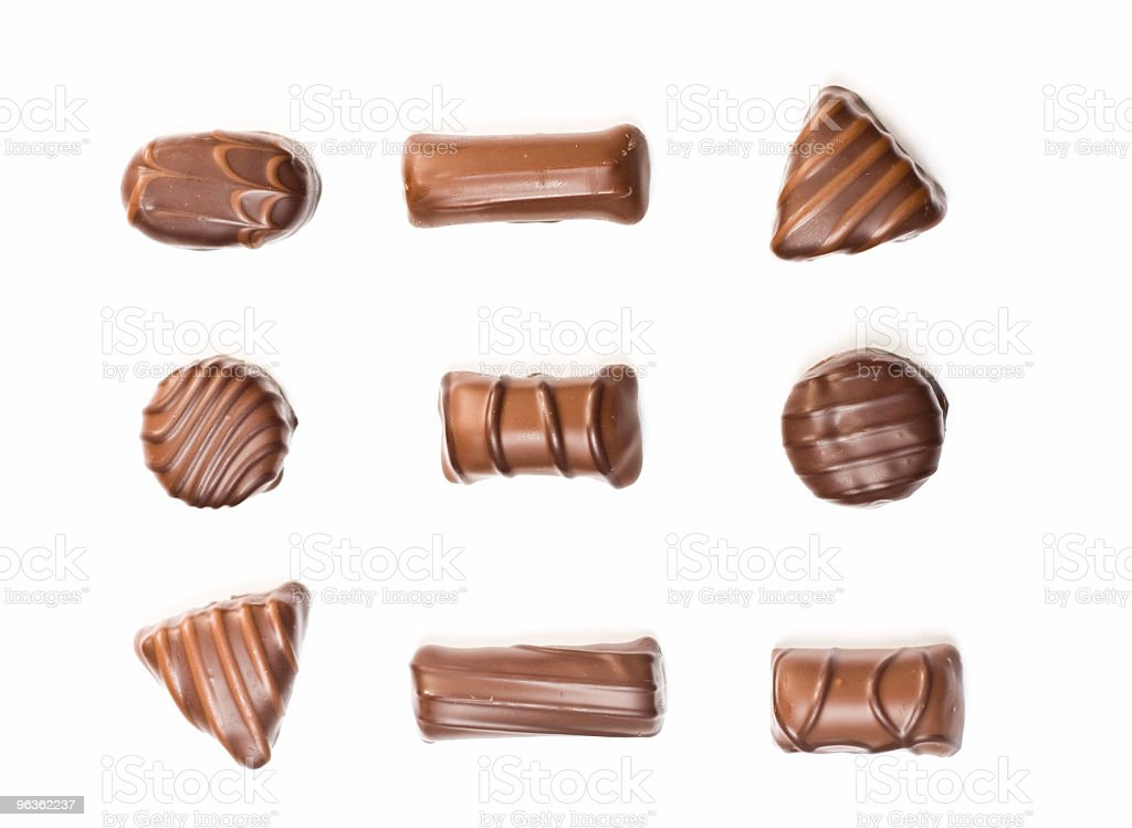 Assorted Chocolates royalty-free stock photo