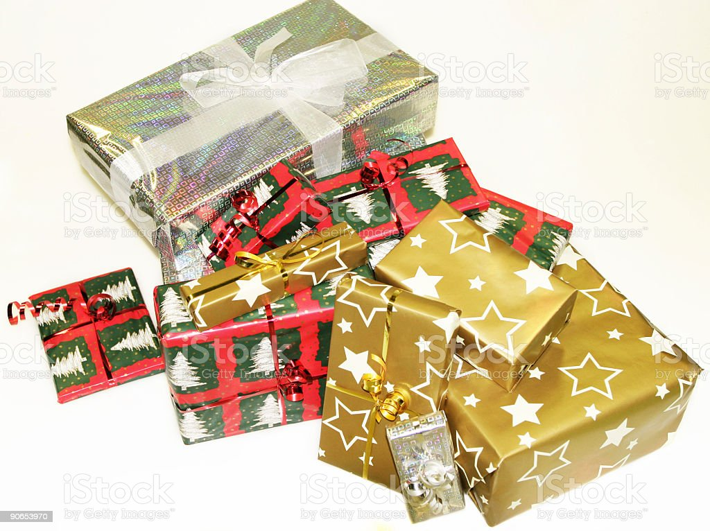 Assorted Christmas Gifts royalty-free stock photo
