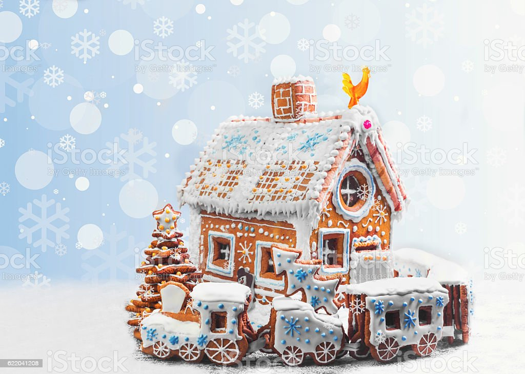 Assorted Christmas gingerbread cookies stock photo