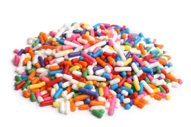 assorted colored sprinkles - posypka zdjęcia i obrazy z banku zdjęć