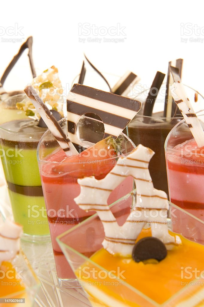 Assorted colorful desserts royalty-free stock photo