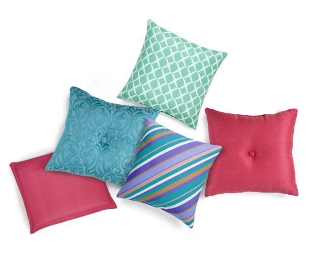 Assorted decorative patio cushions Assorted decorative patio cushions cushion stock pictures, royalty-free photos & images
