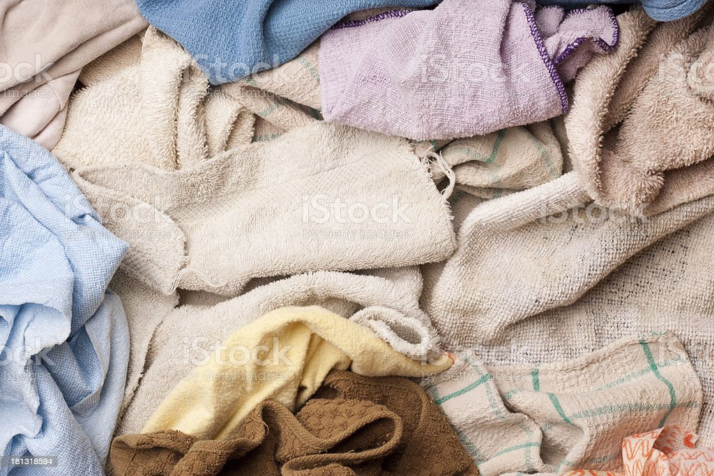 Assorted dish rags royalty-free stock photo
