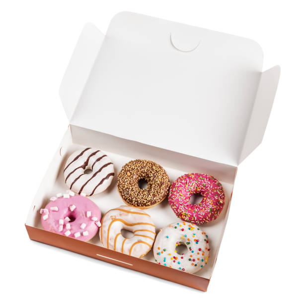 assorted donuts with different fillings in the box – Foto