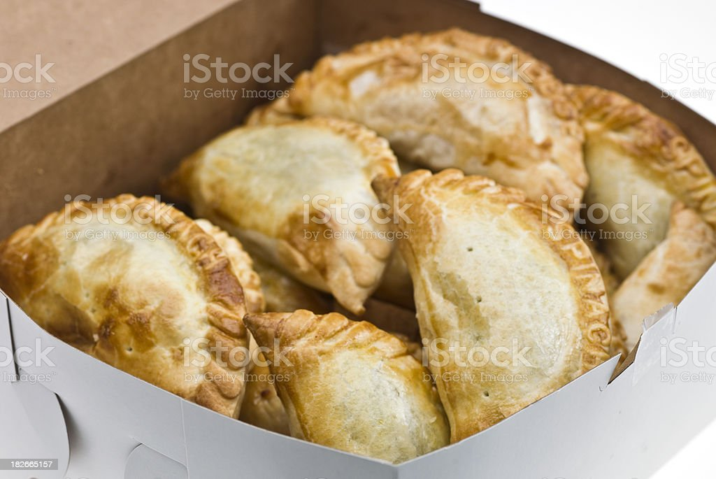 Assorted empanadas (meat pies) royalty-free stock photo