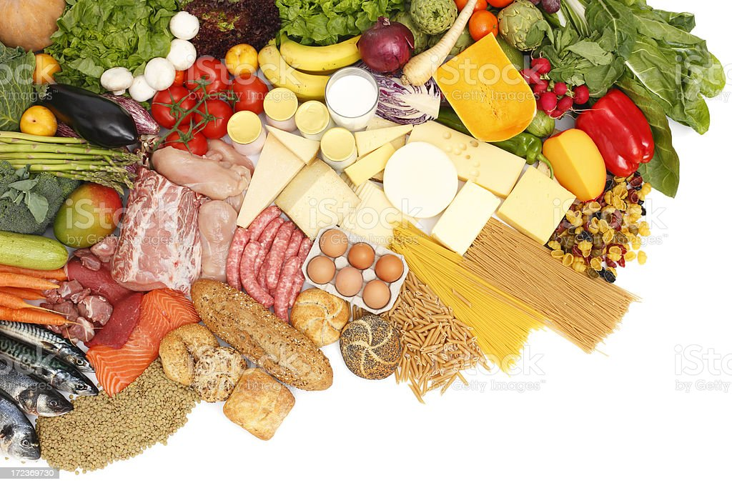 Assorted food stock photo