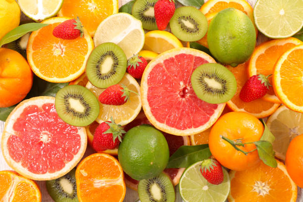 assorted fresh fruit stock photo