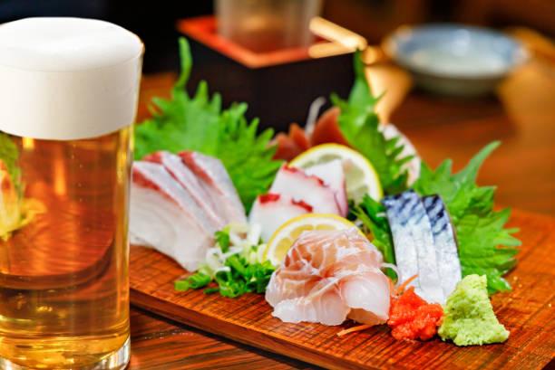 Assorted fresh sashimi stock photo