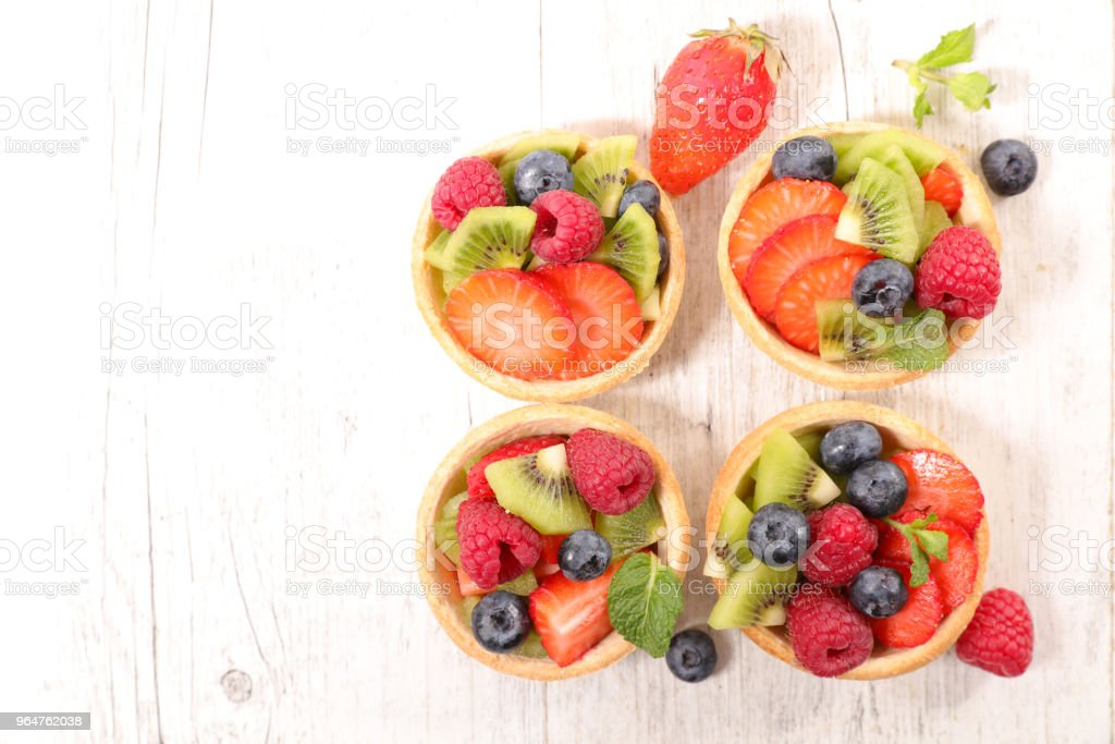 assorted fruit tartlet royalty-free stock photo