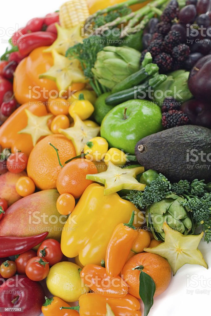 Assorted Fruits & Vegetables royalty-free stock photo