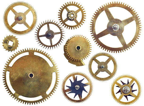 assorted gear wheels - cog stock photos and pictures