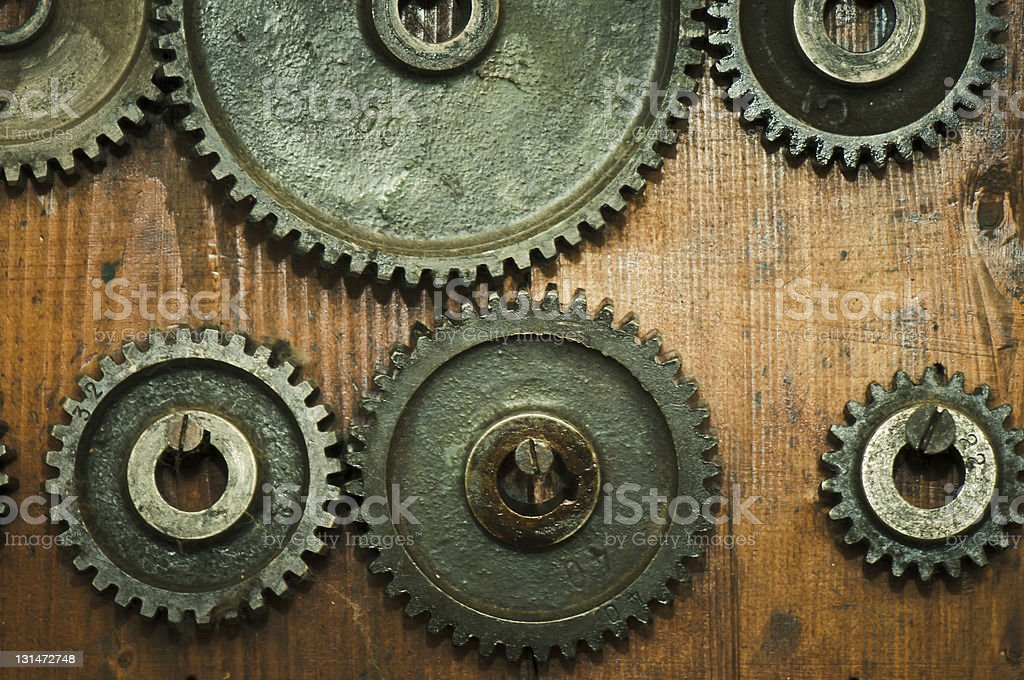 Assorted gears royalty-free stock photo