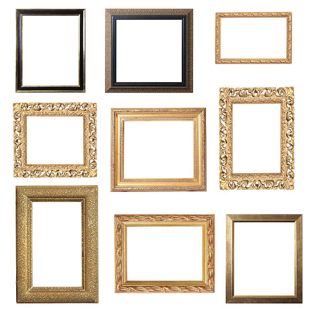 Assorted Gold Frames stock photo