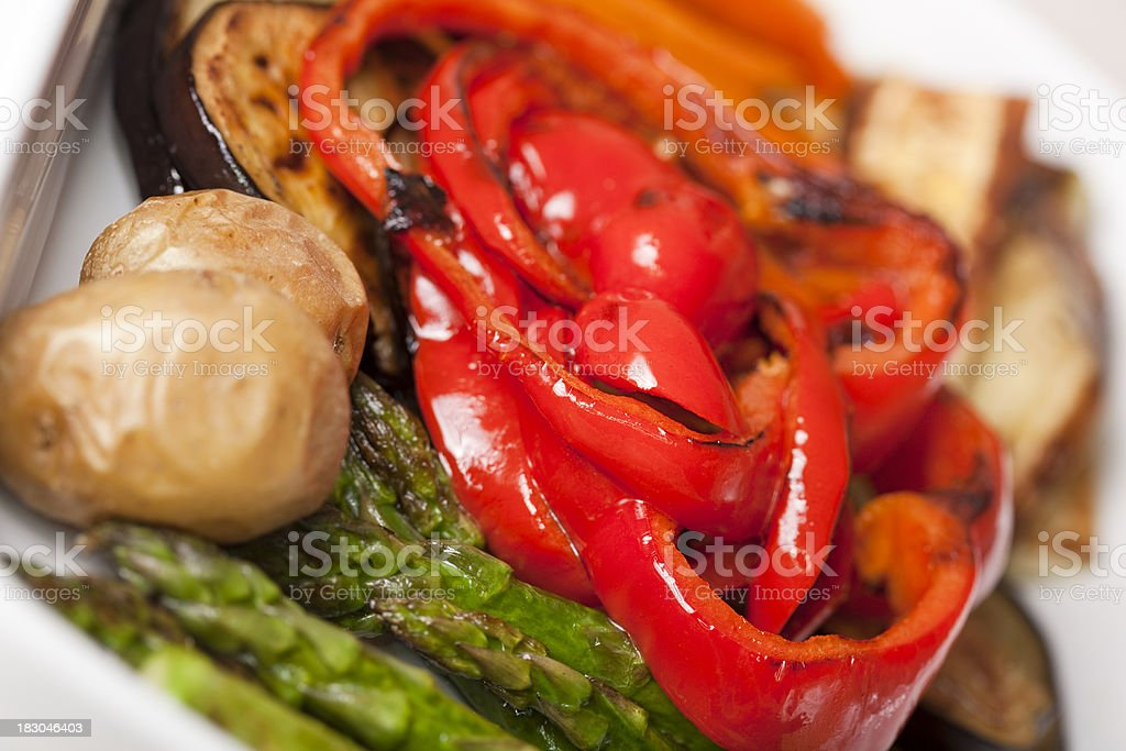 Assorted grilled vegetables royalty-free stock photo