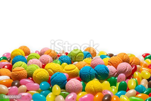 istock Assorted gummy candies. Jelly  sweets. 1255003207