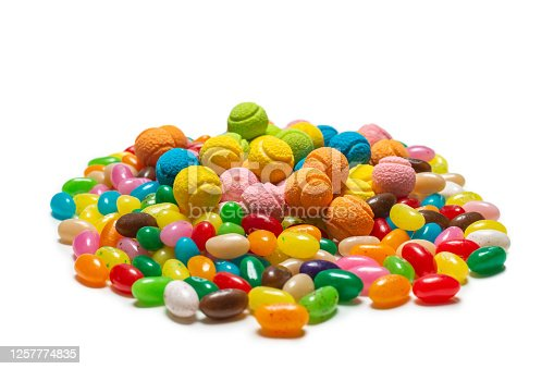 istock Assorted gummy candies. Jelly  sweets. 1257774835