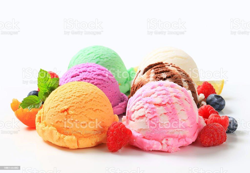 Assorted ice cream stock photo