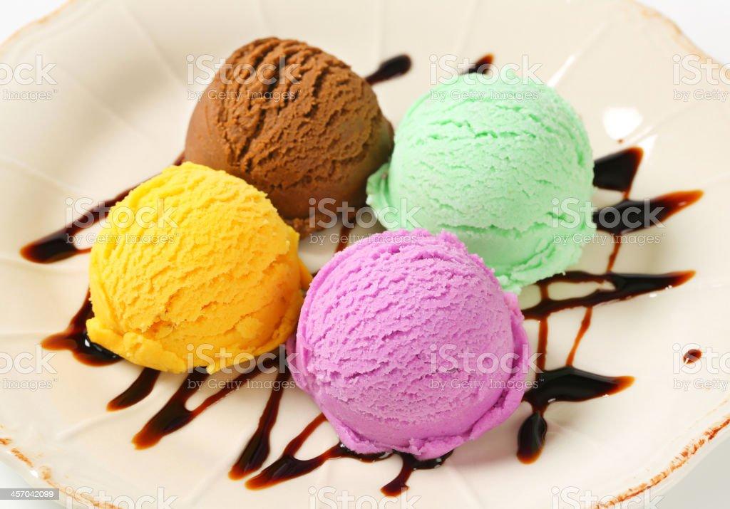 Assorted ice cream royalty-free stock photo