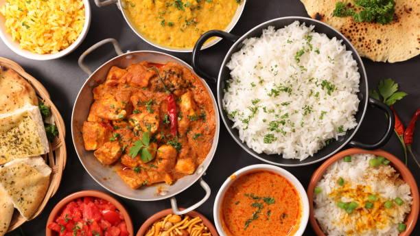 prato indiano sortido - caril - fotografias e filmes do acervo