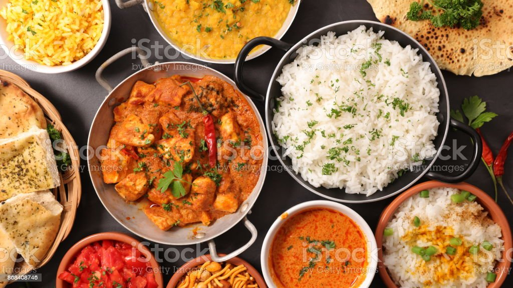 plato indio surtido - foto de stock