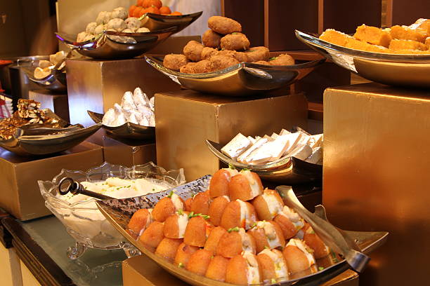 assorted indian sweets stock photo