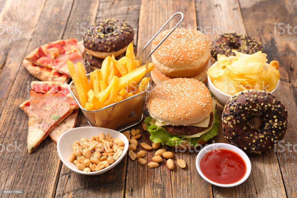 assorted junk food photo libre de droits