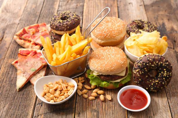 assorted junk food - 不健康飲食 個照片及圖片檔