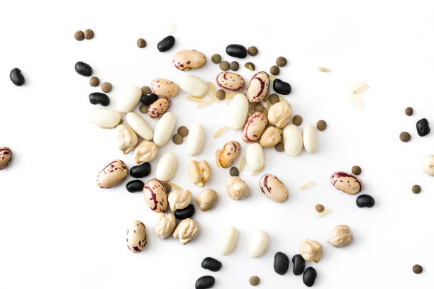assorted legumes - bean stock photos and pictures