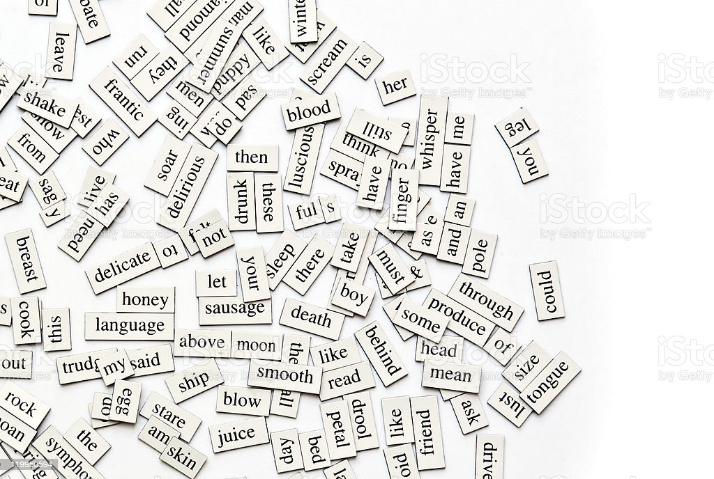 Assorted Magnetic Words royalty-free stock photo