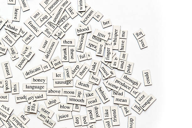assorted magnetic words - single word stock photos and pictures