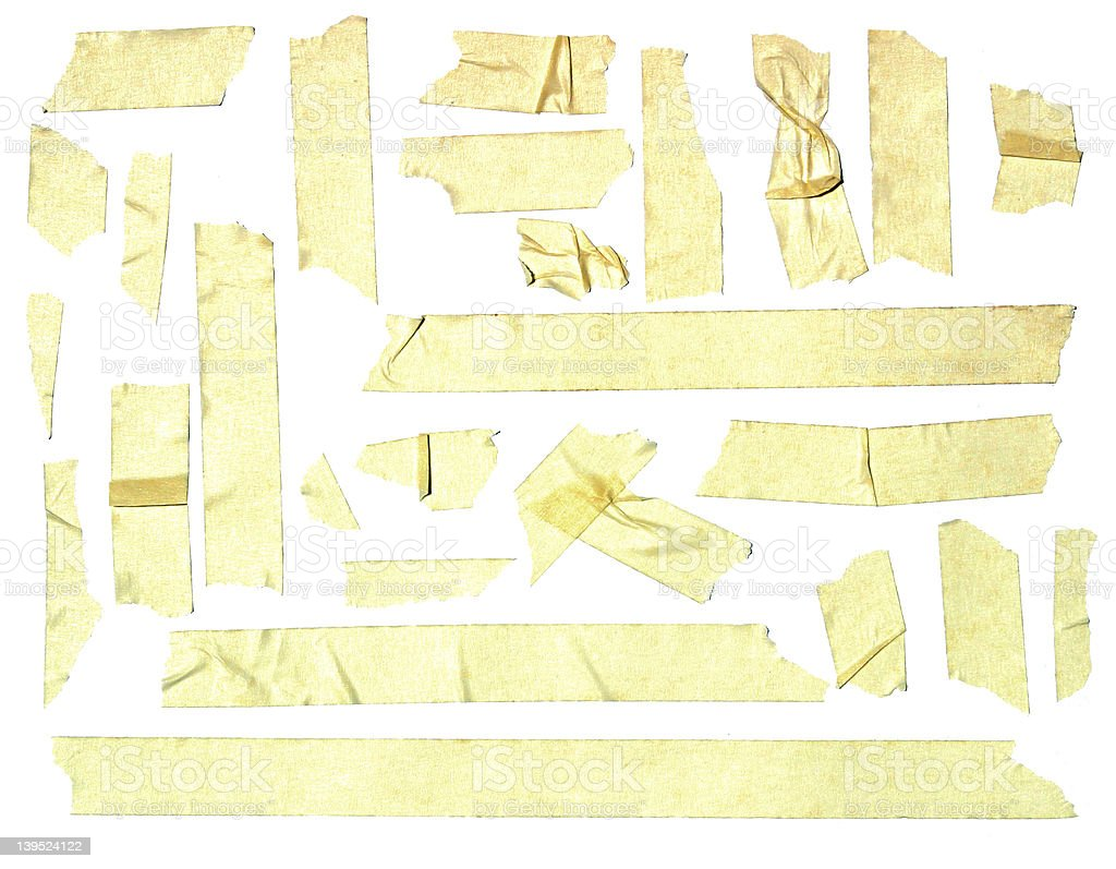 Assorted Masking Tape Pieces royalty-free stock photo