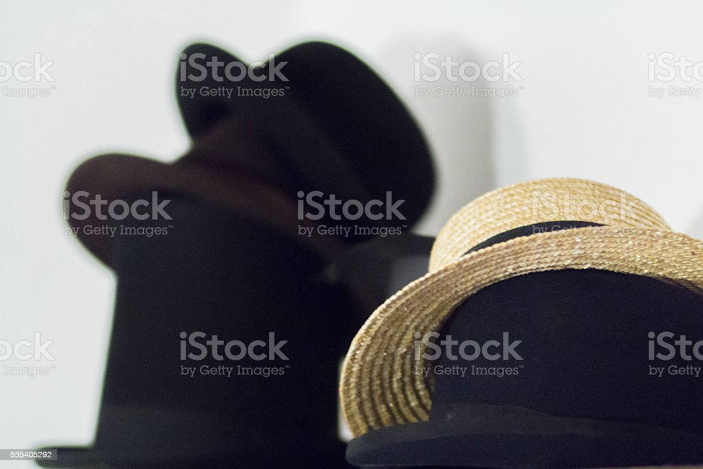 assorted mens hats stock photo