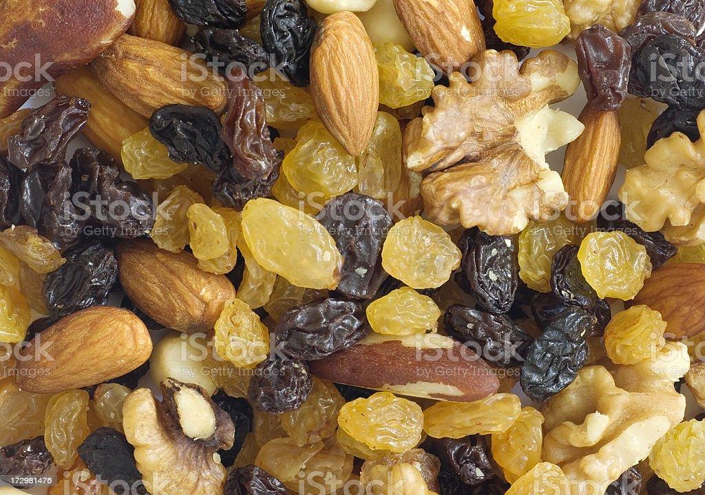 Assorted Mix of Nuts & Raisins (Studentenhaver) royalty-free stock photo