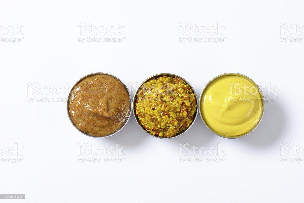 assorted mustards stock photo