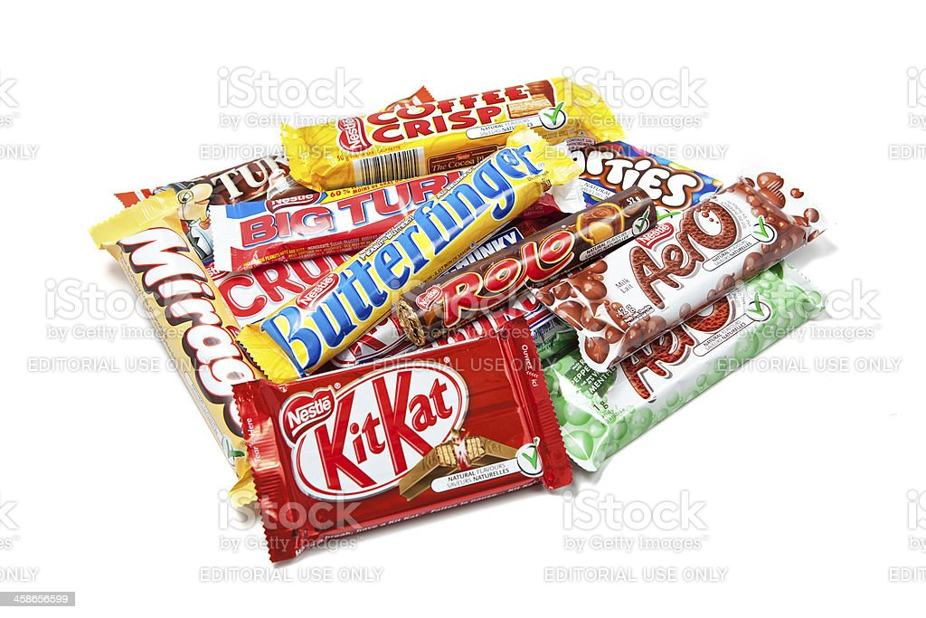 Assorted Nestle Chocolate Products stock photo