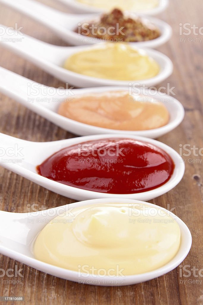 assorted of sauce stock photo
