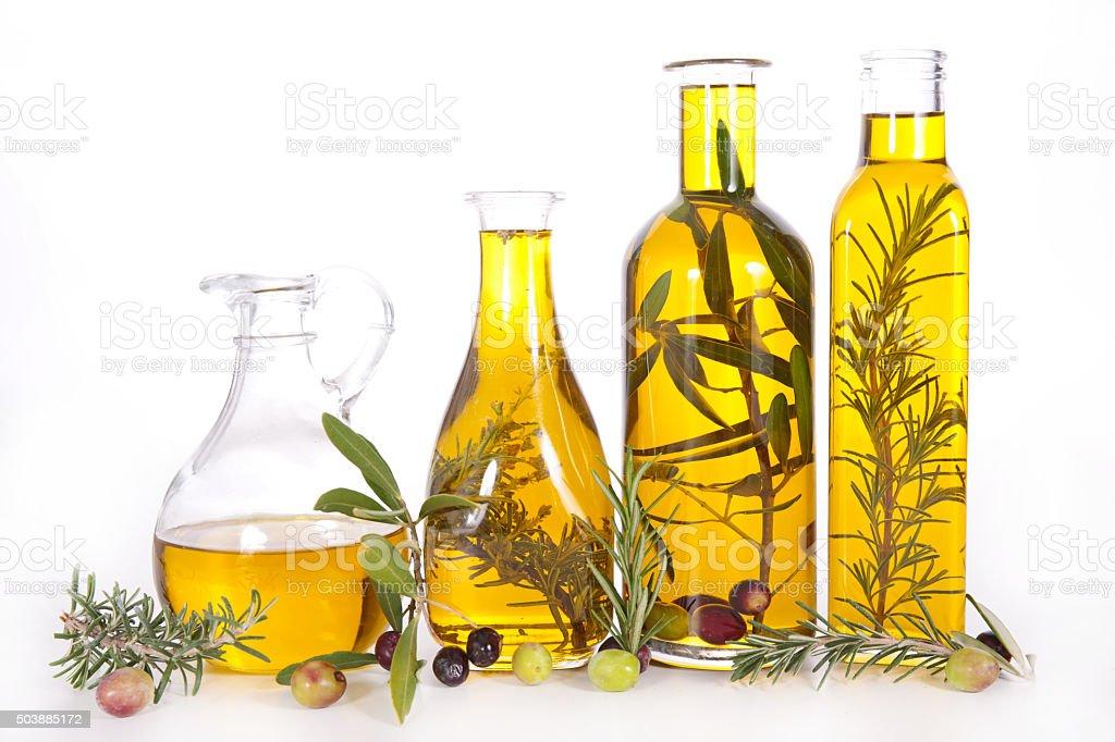 Variedade de azeite de oliva - foto de acervo