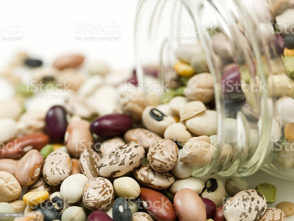 assorted organic beans royalty-free stock photo