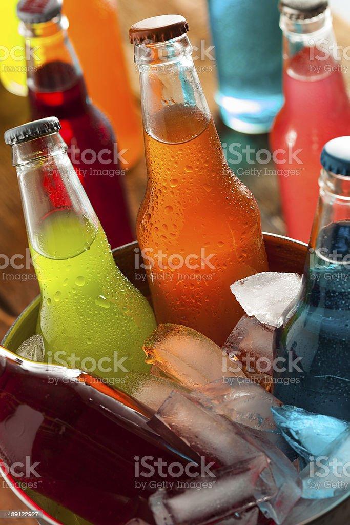 Assorted Organic Craft Sodas stock photo