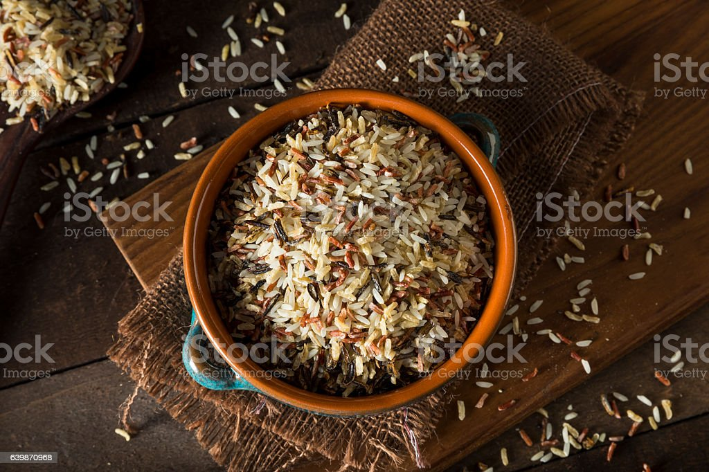 Assorted Organic Dry Mixed Rice stock photo