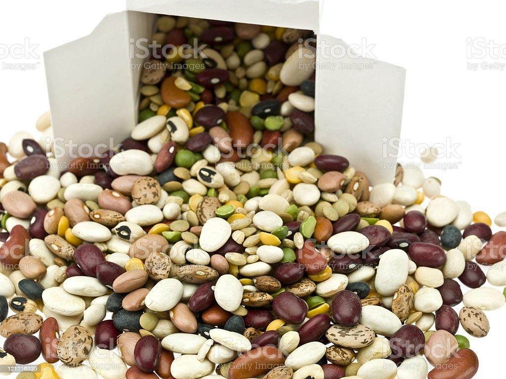 Assorted Organic Legumes royalty-free stock photo