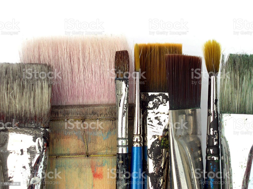 Assorted Paint Brushes royalty-free stock photo