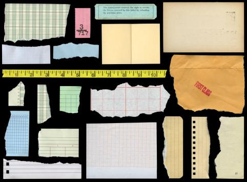 assorted paper elements