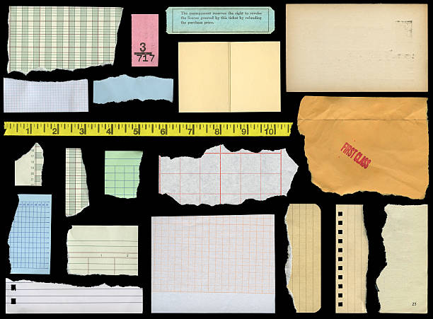 assorted paper elements stock photo