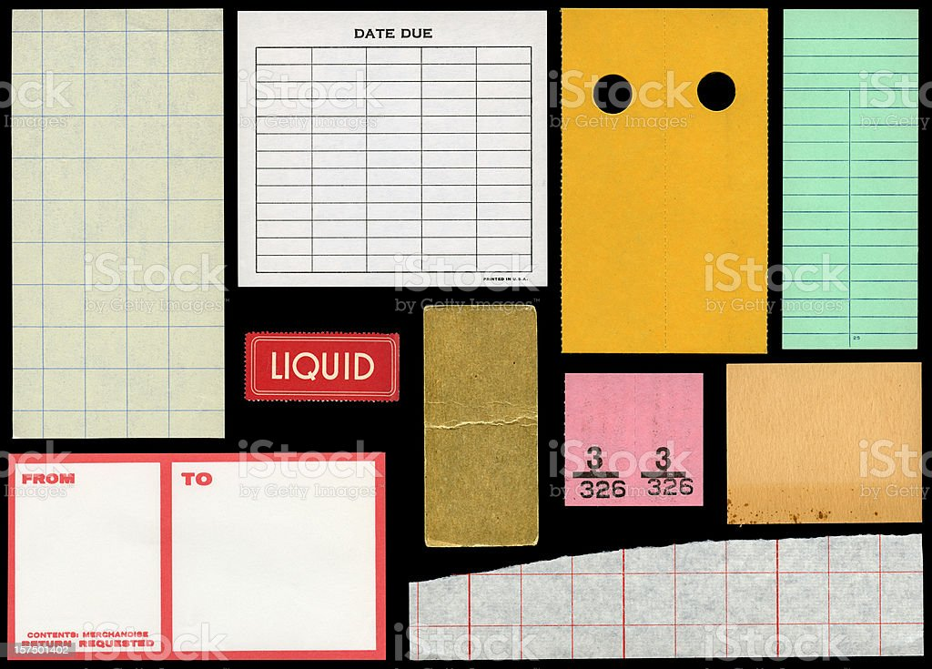 assorted paper samples royalty-free stock photo