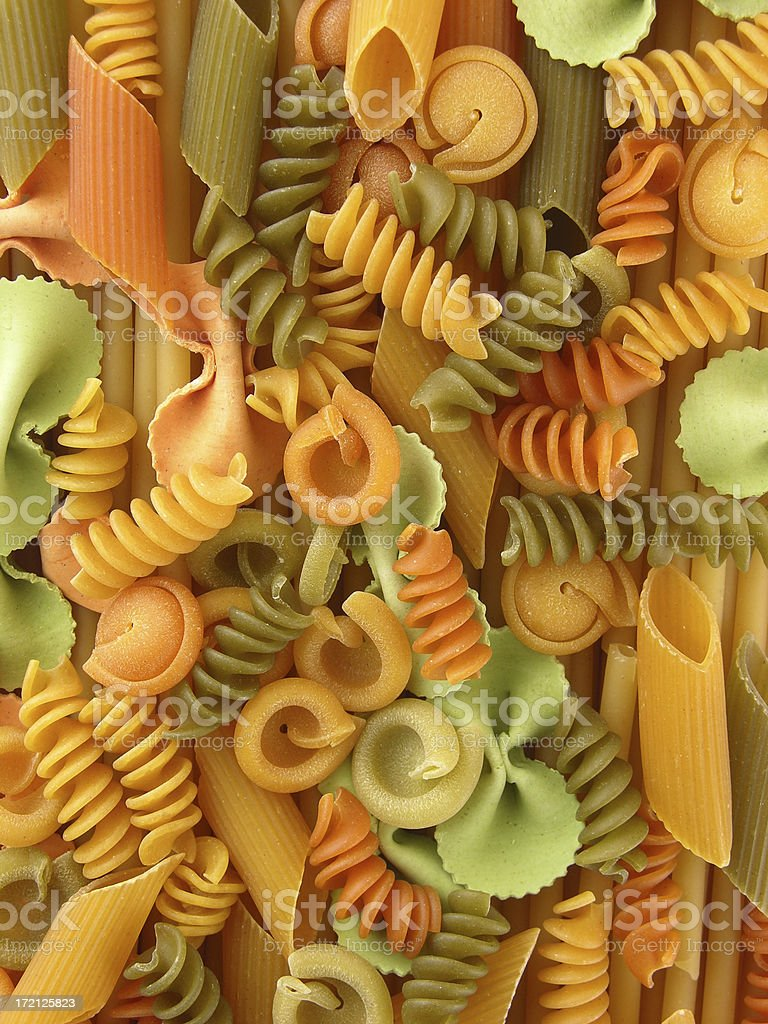 Assorted pasta royalty-free stock photo