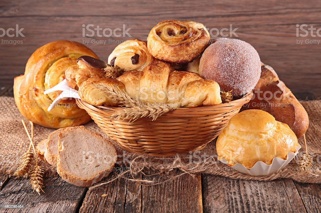 assorted pastry stock photo